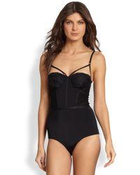 Zimmermann - Black Onepiece Instinct Swimsuit - Lyst