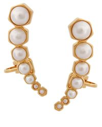 Rachel Zoe | Metallic Graduated Cuff Earrings | Lyst