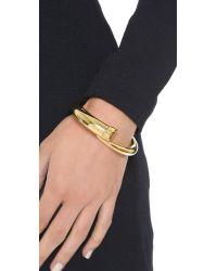 Michael Kors | Metallic Tusk Bypass Hinged Bracelet - Gold | Lyst