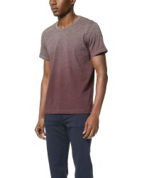 Splendid Mills | Purple Dip Dye Marled Crew Tee for Men | Lyst