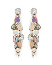 J.Crew | Multicolor Cloudy Crystal Earrings | Lyst