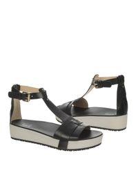 Dr. Scholls | Black Fraser Leather Sandals | Lyst