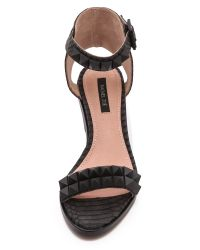 Rachel Zoe - Black Colbie Studded Sandals - Lyst