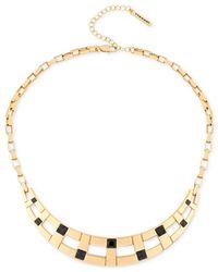 T Tahari - Metallic Gold-tone Jet Crystal Collar Necklace - Lyst