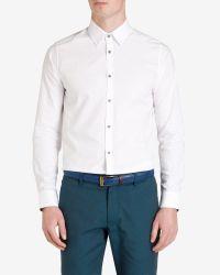 Ted Baker - White Oxford Shirt for Men - Lyst