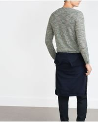 Zara | Green Twist Knit Sweater for Men | Lyst