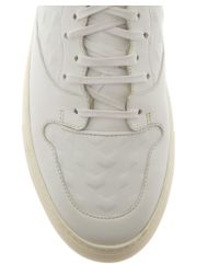 Balenciaga - White Embossed Panel Leather Low-Top Trainers for Men - Lyst