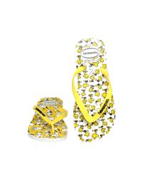 Havaianas - Yellow Snoopy Flip Flop for Men - Lyst