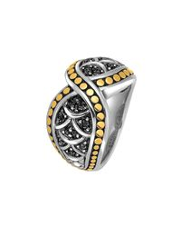 John Hardy | Metallic Naga Crossover Black Sapphire Ring | Lyst