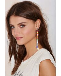 Nasty Gal - Multicolor Lei It On Me Beaded Earring - Lyst