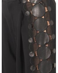 Christopher Kane - Black Leather-molecule Tailored Trousers - Lyst