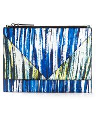 KENZO | Blue Brushstroke Print Pouch | Lyst
