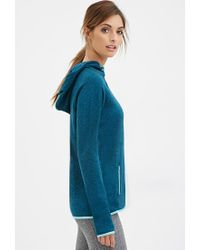 Forever 21 - Blue Active Longline Fleece Hoodie You've Been Added To The Waitlist - Lyst