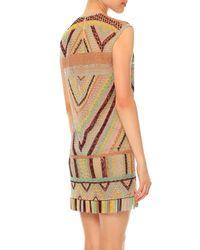 Valentino - Natural Geometric Macrame Shift Dress - Lyst