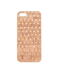 J.Crew | Metallic Dotprint Cork Case For Iphone 55s | Lyst
