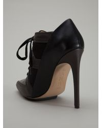 L.A.M.B. - Black Ankle Boot Pump - Lyst