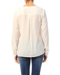 Vila - White Shirt / Blouse - Lyst