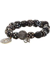 Carole Shashona - Black Diamond Tribal Om Bead Bracelet - Lyst