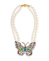 Shourouk - Multicolor Butterfly Necklace - Lyst