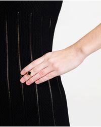 Bijules | Metallic 14K Gold Vermeil And Black Onyx Heart Ring | Lyst