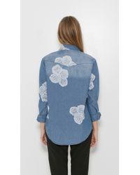 One Teaspoon - Blue Lead Rose Zeppelin Shirt - Lyst