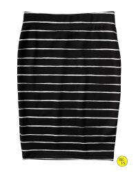 Banana Republic - Black Factory Stripe Pencil Skirt - Lyst