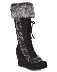 Report | Black Pearson Cold Weather Wedge Boots | Lyst