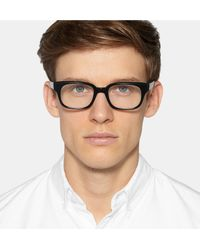 57016a7873 Thom Browne Square-frame Acetate Optical Glasses in Black for Men - Lyst