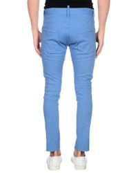 DSquared² - Blue Denim Trousers for Men - Lyst