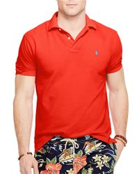 Polo Ralph Lauren | Red Classic-Fit Mesh Polo Shirt for Men | Lyst