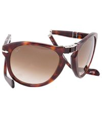"Persol - Gray ""Steve Mcqueen\"" Edition: Havana Tortoise Frame With Brown Faded Lens - Lyst"