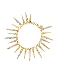 Lydell NYC - White Spiked Howlite Bracelet - Lyst