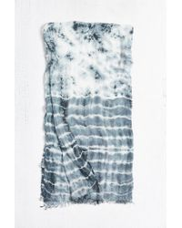 Urban Outfitters - Blue Tie Dye Sheer Scarf for Men - Lyst