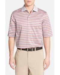 Bobby Jones | Gray 'Flier' Regular Fit Jacquard Polo for Men | Lyst