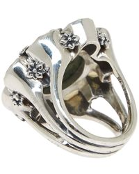 Stephen Dweck - Metallic Silver Green Cognac Quartz Flower Ring - Lyst