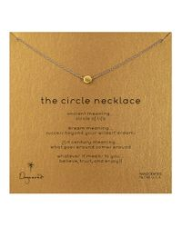 Dogeared | Metallic 'the Circle' Necklace | Lyst