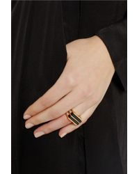 Marc By Marc Jacobs   Metallic Windows Goldtone Resin Ring   Lyst
