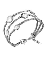 John Hardy | Metallic Palu Silver Three-row Multi Station Bracelet | Lyst