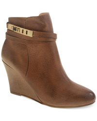 Chinese Laundry | Brown Unleash Wedge Booties | Lyst