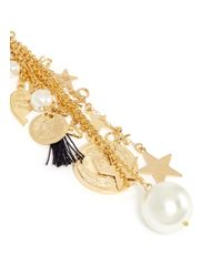 Venessa Arizaga | White 'stargazer' Star Charm Single Drop Earring | Lyst