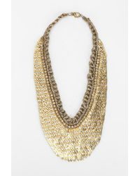 Deepa Gurnani - Metallic Scales Bib Necklace - Lyst