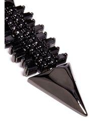 Iosselliani - Black Zircon Pavé Brass Arrow Clip Earrings - Lyst