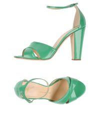 Giuseppe Zanotti - Green Sandals - Lyst