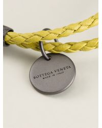 Bottega Veneta - Yellow Braided Bracelet - Lyst