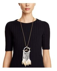 Tory Burch | Metallic Dream Catcher Pendant Necklace | Lyst