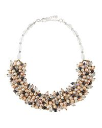 Nakamol | White Mixed Pearl & Crystal Collar Necklace | Lyst