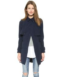 Madewell - Blue Drapery Trench Coat - Night Vision - Lyst