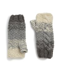 Genie by Eugenia Kim - Gray Carlie Ombre Fingerless Gloves - Lyst
