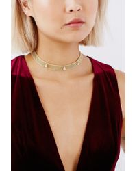 Urban Outfitters - Metallic Mesh Choker Necklace - Lyst