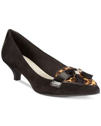 Anne Klein | Black Miguela Kitten Heel Pumps | Lyst